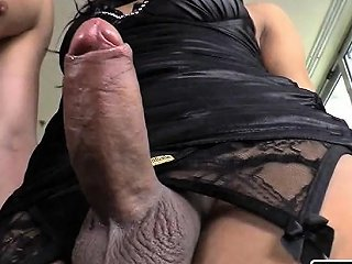 Huge Booty Shemale With Fat Cock Fucked In Anal Real Deep