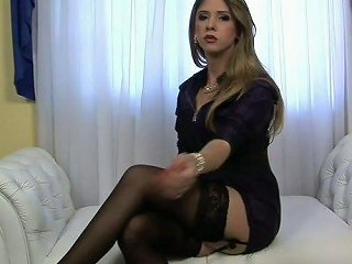 Slim And Pretty Ladyman Nicole Ribeiro Would Love To Show You Her Goodies