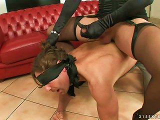 Tranny Dominatrix Forces Her Man To Enjoy Her Godzillas & Groin Ferrett